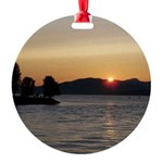 Vancouver Sunset Round Ornament
