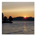 Vancouver Sunset Square Car Magnet 3
