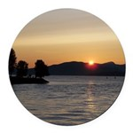 Vancouver Sunset Round Car Magnet