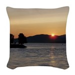 Vancouver Sunset Woven Throw Pillow