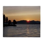 Vancouver Sunset Throw Blanket
