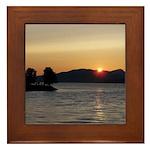 Vancouver Sunset Framed Tile