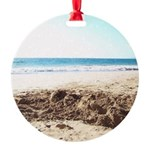 Bright at the Beach Round Ornament