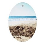 Bright at the Beach Ornament (Oval)
