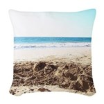 Bright at the Beach Woven Throw Pillow