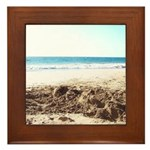 Bright at the Beach Framed Tile