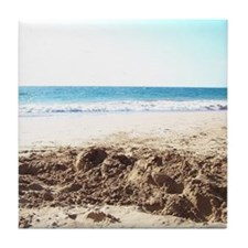 Bright at the Beach Tile Coaster