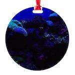 Dark Coral Round Ornament