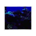 Dark Coral Throw Blanket