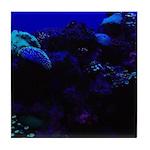Dark Coral Tile Coaster