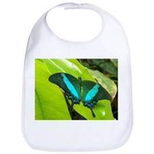 Green Moss Peacock Butterfly Bib
