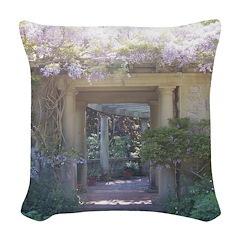 Fairytale Garden Woven Throw Pillow