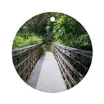 Bridge in the Bamboo Forest Ornament (Round)