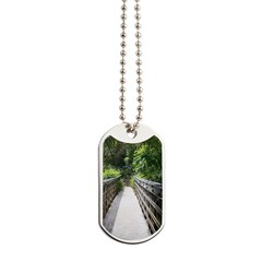 Bridge in the Bamboo Forest Dog Tags