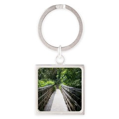Bridge in the Bamboo Forest Keychains