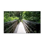 Bridge in the Bamboo Forest Rectangle Car Magnet
