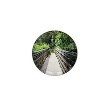 Bridge in the Bamboo Forest Mini Button