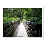 Bridge in the Bamboo Forest Small Poster
