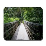 Bridge in the Bamboo Forest Mousepad