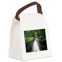 Bridge in the Bamboo Forest Canvas Lunch Bag