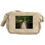 Bridge in the Bamboo Forest Messenger Bag
