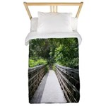 Bridge in the Bamboo Forest Twin Duvet