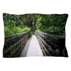 Bridge in the Bamboo Forest Pillow Case