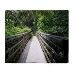 Bridge in the Bamboo Forest Throw Blanket