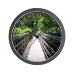 Bridge in the Bamboo Forest Wall Clock