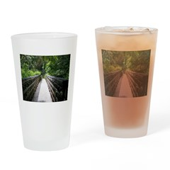 Bridge in the Bamboo Forest Drinking Glass