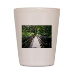 Bridge in the Bamboo Forest Shot Glass
