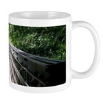 Bridge in the Bamboo Forest Mugs