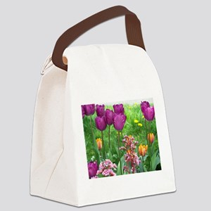 Tulips in Spring Canvas Lunch Bag