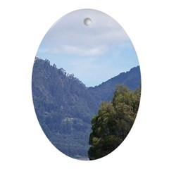 Monserrate, Colombia Ornament (Oval)