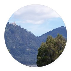 Monserrate, Colombia Round Car Magnet