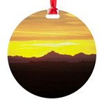 Alberta Sunset Round Ornament