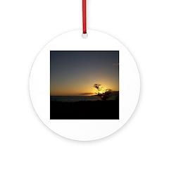 Maui Sunset Ornament (Round)