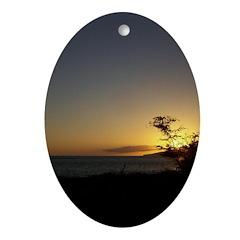 Maui Sunset Ornament (Oval)