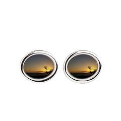 Maui Sunset Oval Cufflinks