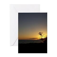 Maui Sunset Greeting Cards