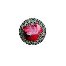 Red Leaf Mini Button