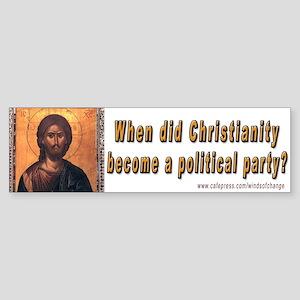 Christian politics (bumper sticker)