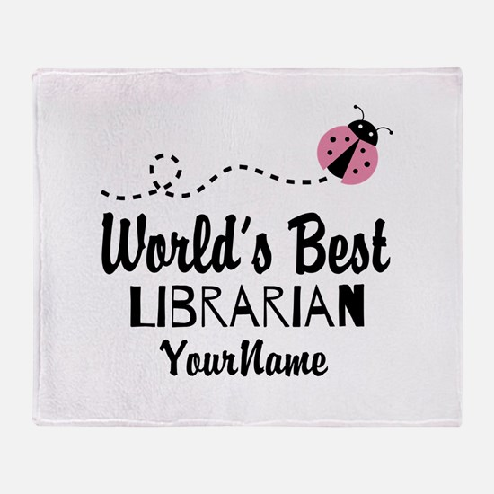 World's Best Librarian Throw Blanket