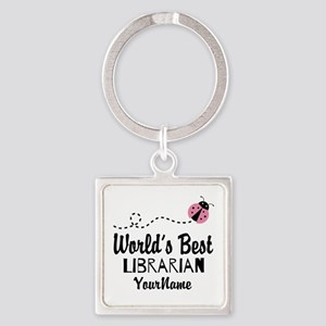 World's Best Librarian Square Keychain