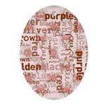 made of words colors brown Ornament (Oval)