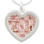 made of words colors brown Necklaces