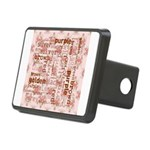 made of words colors brown Hitch Cover
