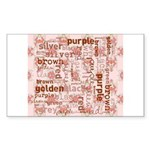 made of words colors brown Sticker