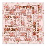 made of words colors brown Square Car Magnet 3
