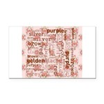 made of words colors brown Rectangle Car Magnet